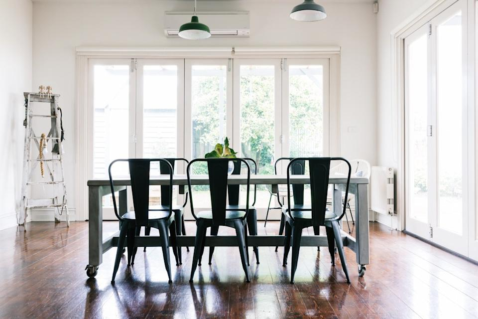 metal chair dining table home remodel