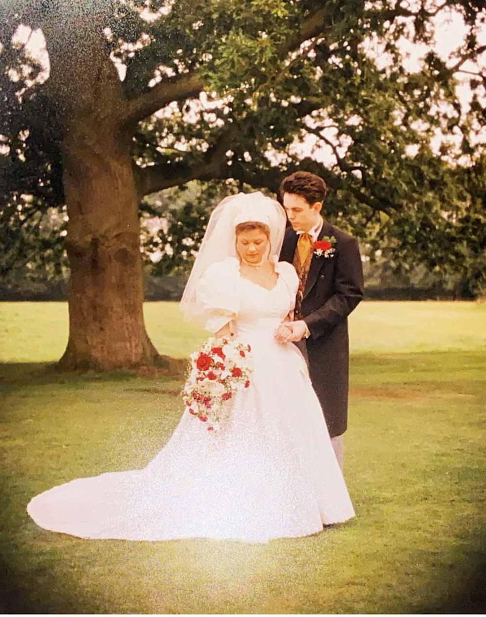 Sarah and Brian on wedding day in August 1996 (PA Real Life/Jeff Walker).