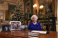 <p>The Queen recorded her annual Christmas broadcast, accompanied by a festive tree and some sweet family photos. </p>