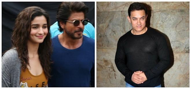 Alia Bhatt, Shah Rukh Khan and Aamir Khan
