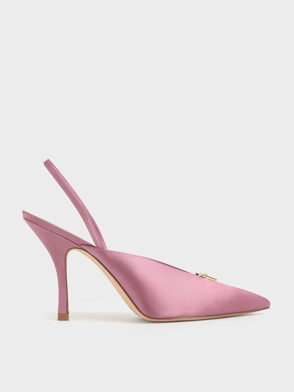 "<br><br><strong>Charles & Keith</strong> Satin Embellished Slingback Heels, $, available at <a href=""https://go.skimresources.com/?id=30283X879131&url=https%3A%2F%2Fwww.charleskeith.com%2Fus%2Fsale%2FCK1-60280223_PINK.html"" rel=""nofollow noopener"" target=""_blank"" data-ylk=""slk:Charles & Keith"" class=""link rapid-noclick-resp"">Charles & Keith</a>"
