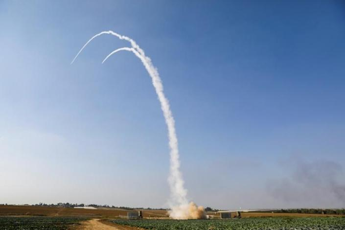 The Iron Dome missile defence system faced widespread scepticism over its effectiveness before it was deployed in 2011, but it has since been credited with intercepting countless rockets fired from the Gaza Strip (AFP Photo/MENAHEM KAHANA)