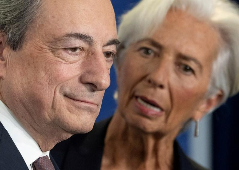 FILE PHOTO: Farewell event for the ECB's outgoing President Mario Draghi in Frankfurt