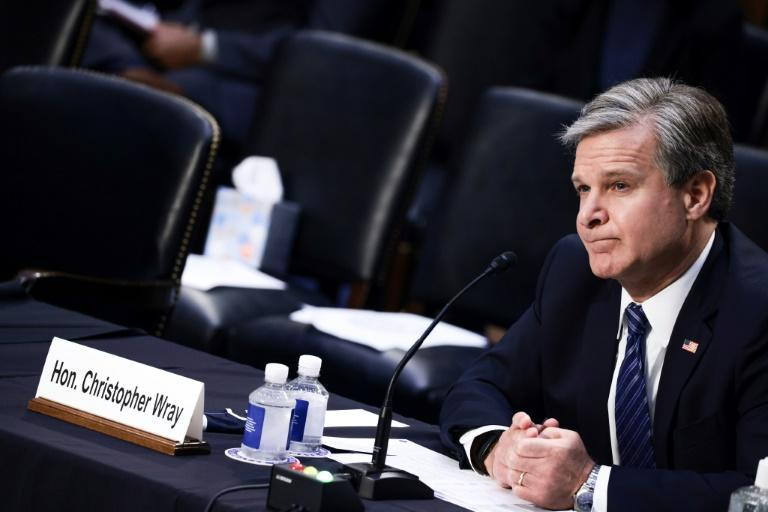 FBI Director Christopher Wray testifying to the Senate Judiciary Committee about the bureau's handling of the investigation into sexual abuse by former USA Gymnastics team doctor Larry Nassar (AFP/Anna Moneymaker)