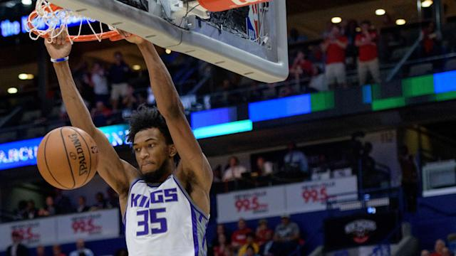 <p>Bagley scored more points in the first quarter on Friday than he did in his NBA debut on Wednesday. </p>