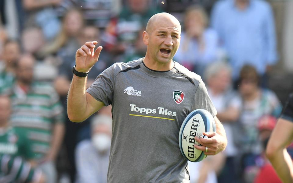 Leicester Tigers Head Coach Steve Borthwick during the Gallagher Premiership Rugby match between Leicester Tigers and Exeter Chiefs at Mattioli Woods Welford Road Stadium on September 18, 2021 in Leicester, England - GETTY IMAGES