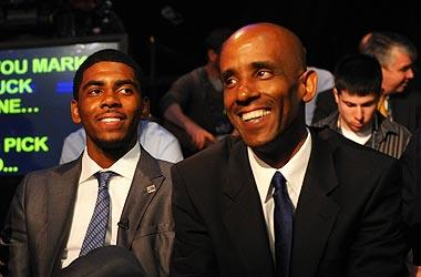 Kyrie Irving said he gained much of his confidence from playing against his father, Drederick – and the pep talks his father gave him after the games