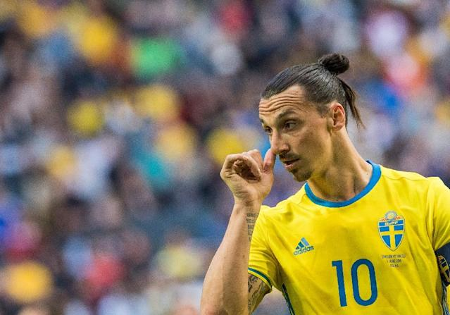 Zlatan Ibrahimovic has reportedly thumbed his nose at a possible World Cup comeback with Sweden. (AFP Photo/JONATHAN NACKSTRAND)