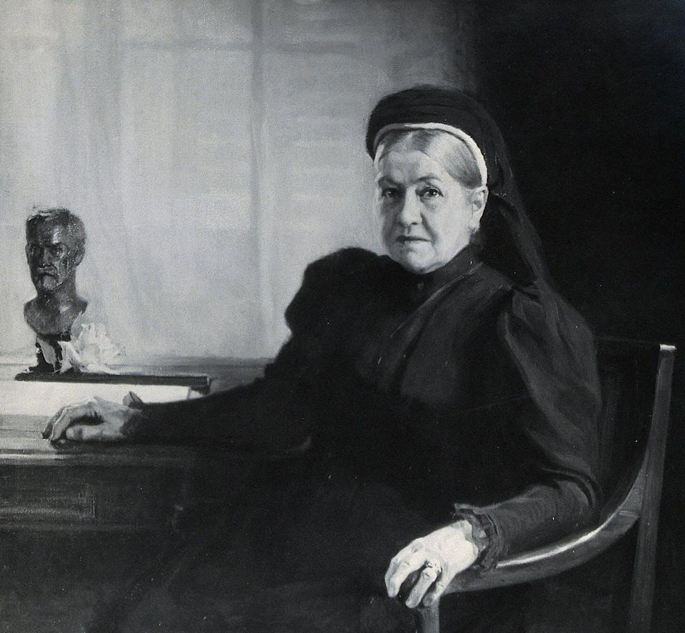 """<span class=""""caption"""">Marie Pasteur. Fotografía de A. Edelfeldt, 1899.</span> <span class=""""attribution""""><a class=""""link rapid-noclick-resp"""" href=""""https://commons.wikimedia.org/wiki/File:Madame_Pasteur._Photograph_after_A._Edelfeldt,_1899._Wellcome_V0026987.jpg"""" rel=""""nofollow noopener"""" target=""""_blank"""" data-ylk=""""slk:Wikimedia Commons"""">Wikimedia Commons</a>, <a class=""""link rapid-noclick-resp"""" href=""""http://creativecommons.org/licenses/by-nc-sa/4.0/"""" rel=""""nofollow noopener"""" target=""""_blank"""" data-ylk=""""slk:CC BY-NC-SA"""">CC BY-NC-SA</a></span>"""