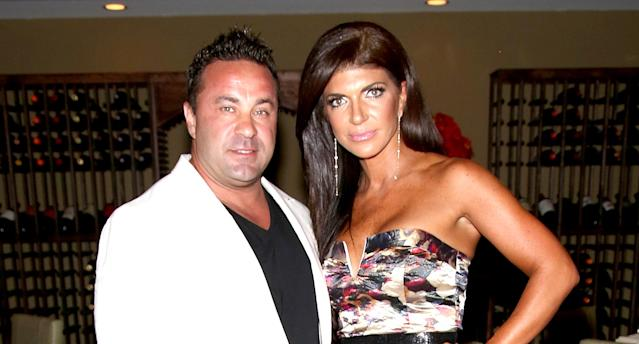 Joe and Teresa Giudice at a  <em>Real Housewives of New Jersey</em> premiere party, July 2014. (Photo: Paul Zimmerman/WireImage)
