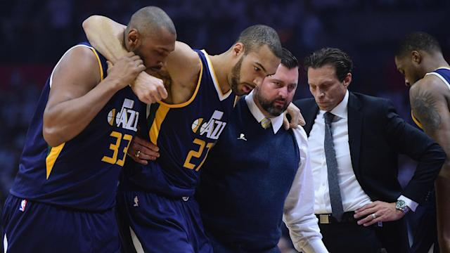 The Utah Jazz will be without Rudy Gobert for game two of their playoff series against the Los Angeles Clippers.