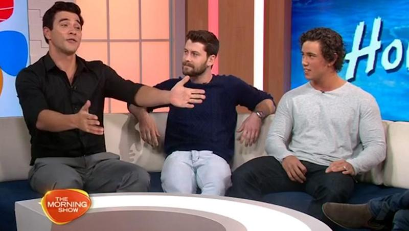 James declares his 'love' for Molly! Source: Seven Network