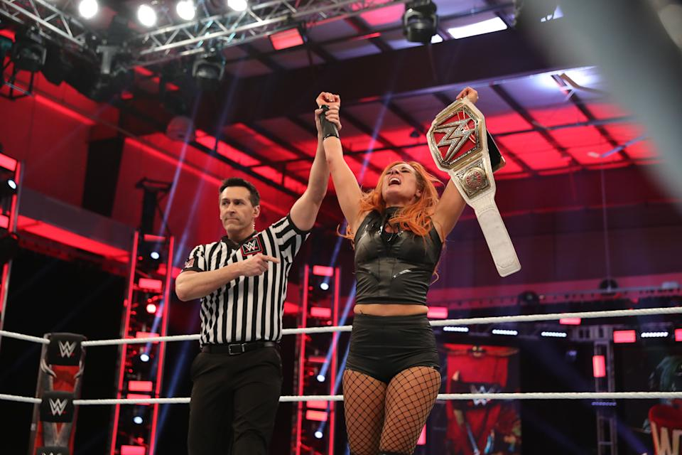 Becky Lynch retained the WWE Raw Women's Championship. (WWE)
