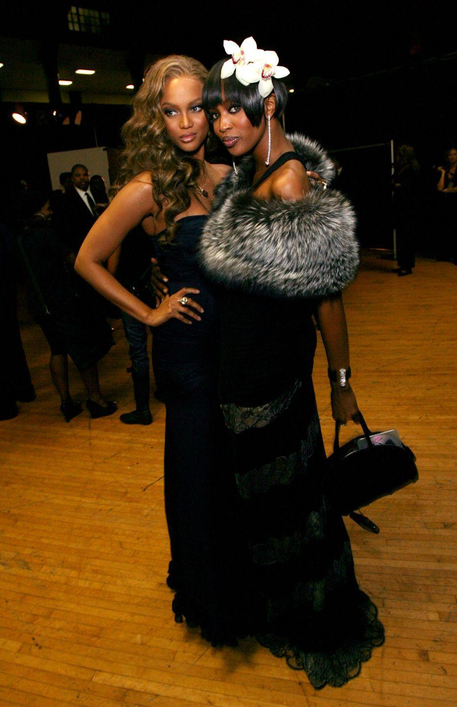 """<p>Years later, Tyra and Naomi seemed to have buried the hatchet, eventually reuniting together on Tyra's talk show in 2005 to clear the air. But rumors of a <a href=""""https://www.lofficielusa.com/pop%20culture/naomi-campbell-tyra-banks-feud-instagram"""" rel=""""nofollow noopener"""" target=""""_blank"""" data-ylk=""""slk:re-ignited feud recently returned"""" class=""""link rapid-noclick-resp"""">re-ignited feud recently returned</a> in 2020, with Naomi sharing an article on her Instagram titled """"Here's Why Fans Are Starting To Think Tyra Banks Is The Real Mean Girl, Not Naomi Campbell."""" Could it be that the beef between the two models isn't over after all?</p>"""