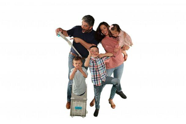 PHOTO: Nichole and Jack Clark pose with their sons Jonah, Noah and Avery. (Buggie Huggie)