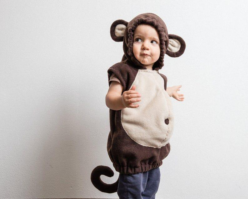 """<p><strong>oKidz</strong></p><p>etsy.com</p><p><strong>$98.67</strong></p><p><a href=""""https://go.redirectingat.com?id=74968X1596630&url=https%3A%2F%2Fwww.etsy.com%2Flisting%2F190470123%2Fmonkey-costume-toddlers-halloween&sref=https%3A%2F%2Fwww.countryliving.com%2Fdiy-crafts%2Fg4975%2Ftoddler-halloween-costume-ideas%2F"""" rel=""""nofollow noopener"""" target=""""_blank"""" data-ylk=""""slk:Shop Now"""" class=""""link rapid-noclick-resp"""">Shop Now</a></p><p>If you're short on time, don't stress - you can give your cheeky monkey a Halloween to remember with this adorable costume!</p>"""