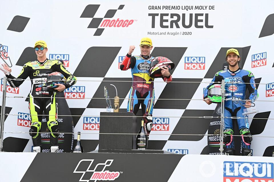 "Fabio Di Giannantonio, Speed Up Racing, Sam Lowes, Marc VDS Racing, Enea Bastianini, Italtrans Racing Team<span class=""copyright"">Gold and Goose / Motorsport Images</span>"