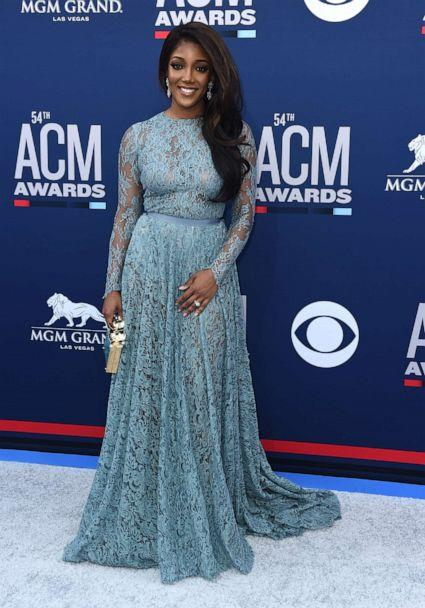 PHOTO: This April 7, 2019 file photo shows Mickey Guyton at the 54th annual Academy of Country Music Awards in Las Vegas. (Jordan Strauss/Invision/AP)