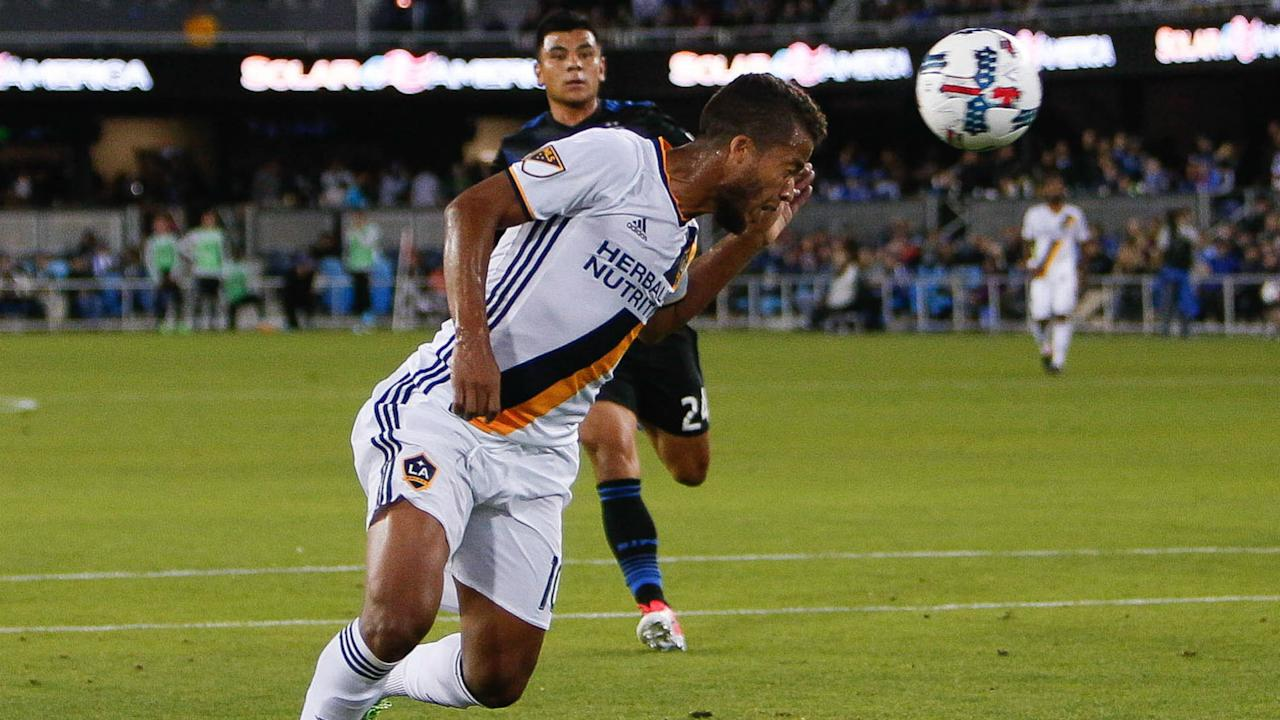 Giovani dos Santos scored twice as LA extended its unbeaten run in MLS with a win over San Jose
