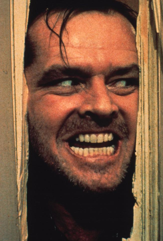 """<a href=""""http://movies.yahoo.com/movie/1800116994/info"""">The Shining</a> (1980): Nicholson is deeply unnerving in one of the most frightening films -- if not THE most frightening -- ever made. As Jack Torrance, he creates fear not just through the imposing nature of his physical presence, the threat of violence against his wife and child that's hinted at early and builds to a crescendo. It's the idea of the percolating madness inside -- the sense that this person is unreliable, both to himself and to others. Stanley Kubrick makes the Overlook Hotel seem frightening through all his trademark stylistic tricks, but nothing compares to the look on Nicholson's face at his most crazed."""