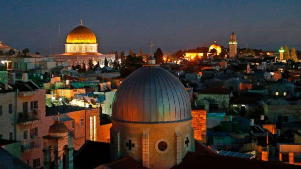 PHOTO: A picture taken on Dec. 4, 2017 shows a general view of the skyline of the old city of Jerusalem, with the Dome of the Rock in the Aqsa Compund. (Ahmad Gharabli/AFP/Getty Images)