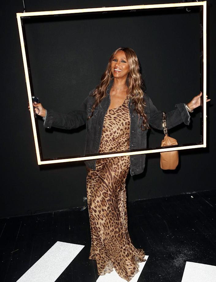 <p>Iman poses at Experience the Times of Bill Cunningham's opening night on Sept. 11 in N.Y.C.</p>
