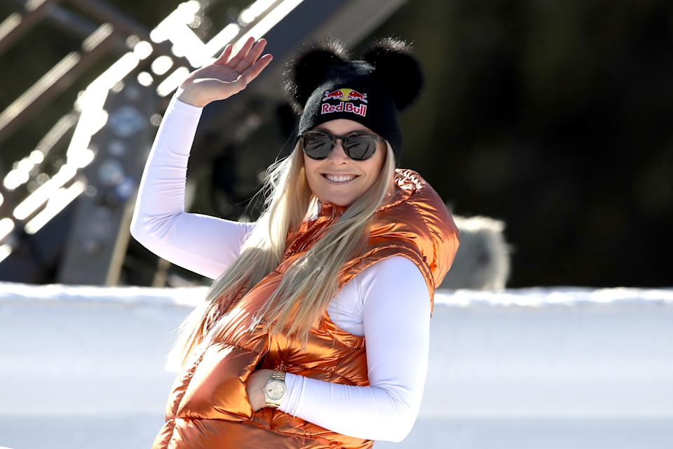 Lindsey Vonn shared a powerful message to fans after online trolls made body-shaming comments. (Photo: Alexander Hassenstein/Bongarts/Getty Images)