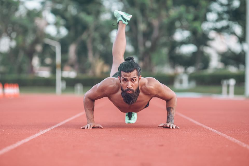 Vinesh derives satisfaction from pushing himself hard in the gym.