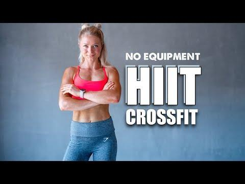 """<p>Join trainer Anna for a <a href=""""https://www.womenshealthmag.com/uk/fitness/strength-training/a708002/quick-crossfit-workout/"""" rel=""""nofollow noopener"""" target=""""_blank"""" data-ylk=""""slk:quick CrossFit workout"""" class=""""link rapid-noclick-resp"""">quick CrossFit workout</a> that doesn't require any equipment but a boatload of effort. Intense intervals of 45-seconds on, 15-seconds off will work your stamina and endurance, so do try to keep pressing on. Short, sharp, sweaty – we love. </p><p><a href=""""https://www.youtube.com/watch?v=_cJhJeG9rjc&ab_channel=growingannanas"""" rel=""""nofollow noopener"""" target=""""_blank"""" data-ylk=""""slk:See the original post on Youtube"""" class=""""link rapid-noclick-resp"""">See the original post on Youtube</a></p>"""