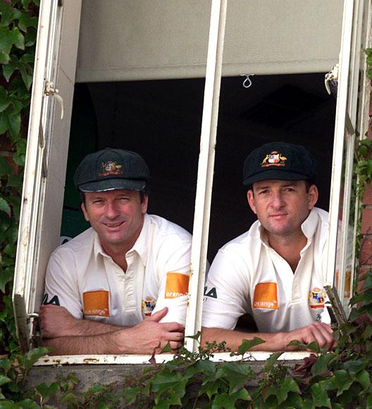 Steve and Mark Waugh of Australia pose for pictures on the eve of the first test between Australia and South Africa to be played at the Adelaide Oval, the test is the 100th the twins have played together, Adelaide, Australia. Nick Wilson/ALLSPORT