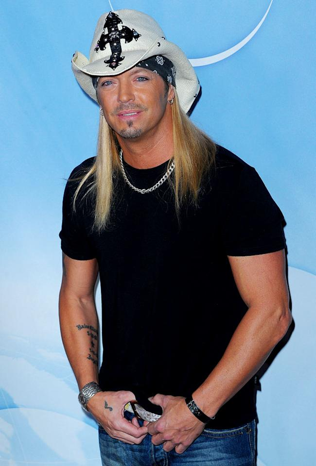 Bret Michaels arrives at NBC Universal's Press Tour Cocktail Party at Langham Hotel on January 10, 2010 in Pasadena, California.