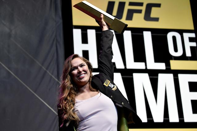 Ronda Rousey is living a dream of playing Sonya Blade. (Getty Images)