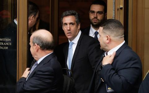 President Trump's personal lawyer Michael Cohen has been under criminal investigation for months - Credit: Eduardo Munoz Alvarez/AFP