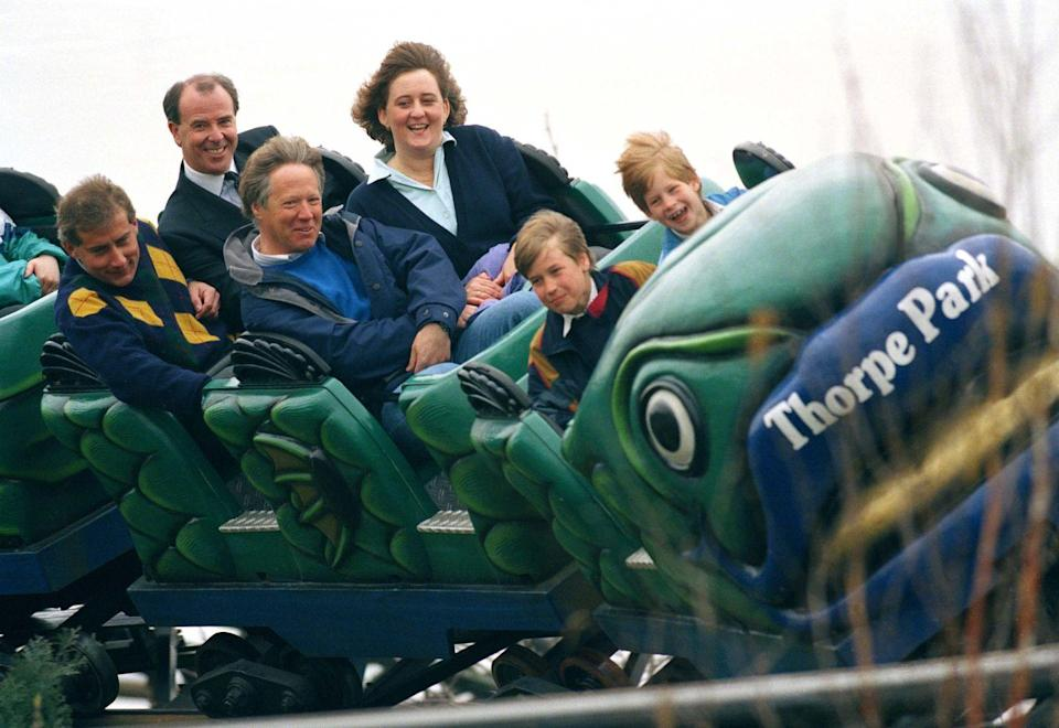 "<p>Princess Diana tried to raise her boys as normal as possible, which meant going to the amusement park in 1993. ""She made sure that they experienced things like going to the cinema, queuing up to buy a McDonald's, going to amusement parks, those sorts of things that were experiences that they could share with their friends,"" Diana's former chief of staff, Patrick Jephson, told <a href=""https://abcnews.go.com/International/rebel-royal-mum-dianas-legacy-parent/story?id=19241646"" rel=""nofollow noopener"" target=""_blank"" data-ylk=""slk:ABC News"" class=""link rapid-noclick-resp"">ABC News</a>. </p>"
