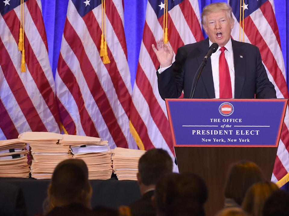 <p>File image: Donald Trump may issue dozens of pardons on the eve of the inauguration, including many deemed controversial</p> (AFP via Getty Images)