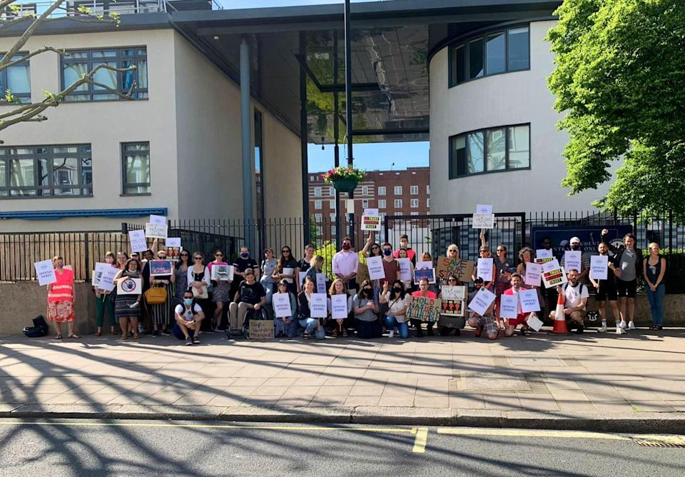 <p>Teachers on strike today</p> (Shelly Asquith)