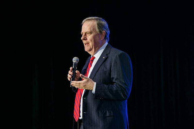 Peter Costello discusses productivity at the Yahoo Finance All Markets Summit. Image: Yahoo Finance
