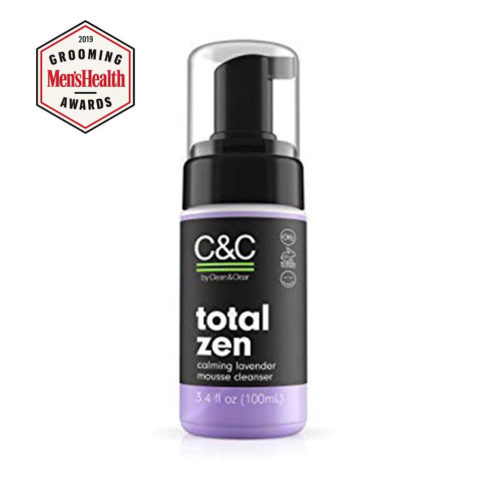 """<p><strong>C&C by Clean & Clear</strong></p><p>ulta.com</p><p><strong>$12.00</strong></p><p><a href=""""https://go.redirectingat.com?id=74968X1596630&url=https%3A%2F%2Fwww.ulta.com%2Ftotal-zen-lavender-mousse-cleanser%3FproductId%3DxlsImpprod18751485&sref=http%3A%2F%2Fwww.menshealth.com%2Fgrooming%2Fg18925137%2Fbest-skincare-products-for-men-facial-moisturizers%2F"""" target=""""_blank"""">BUY IT HERE</a></p><p>This calming cleanser is effective enough to wick away sweat and dirt after a workout, but won't leave skin feeling dry and tight.</p>"""