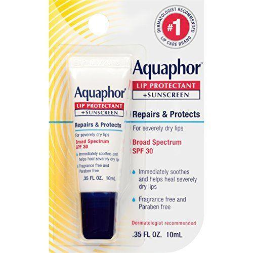"""<p><strong>Aquaphor</strong></p><p>amazon.com</p><p><strong>$15.81</strong></p><p><a href=""""https://www.amazon.com/dp/B008SQSBJK?tag=syn-yahoo-20&ascsubtag=%5Bartid%7C10067.g.36464134%5Bsrc%7Cyahoo-us"""" rel=""""nofollow noopener"""" target=""""_blank"""" data-ylk=""""slk:Shop Now"""" class=""""link rapid-noclick-resp"""">Shop Now</a></p><p>Aquaphor is a longtime dermatologist go-to for its ability to lock in moisture, and this version doubles down with broad-spectrum UV protection. </p>"""