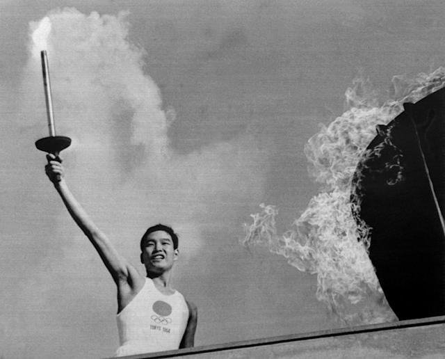 Yoshinori Sakai was the final Olympic torch bearer in the 1964 Summer Olympics in Tokyo, Japan. (Getty)