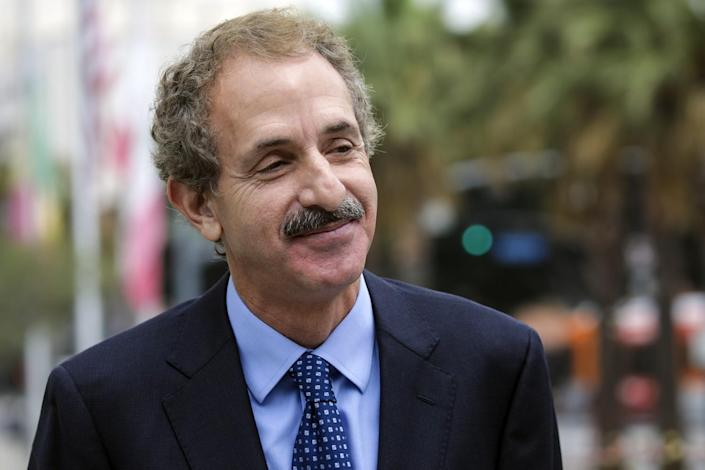 City Atty. Mike Feuer at a news conference in August outside LAPD headquarters.