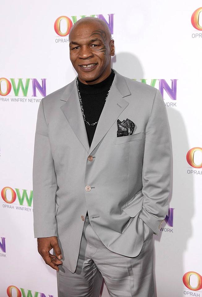"""Since former heavyweight boxing champ Mike Tyson was also at the TCAs promoting his Animal Planet program """"Taking on Tyson,"""" he also popped in at Oprah's shindig. The six-episode series, which focuses on his passion for raising racing pigeons, premieres on March 6. Todd Williamson/<a href=""""http://www.wireimage.com"""" target=""""new"""">WireImage.com</a> - January 6, 2011"""