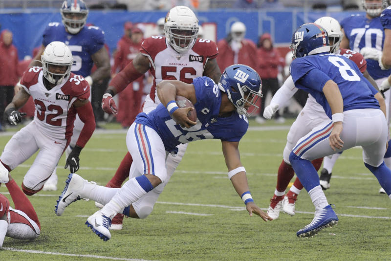 Barkley returns and scores, but Giants' O still struggles
