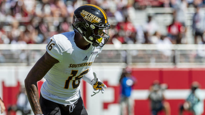 Southern Miss wide receiver Quez Watkins has 55 catches. (AP Photo/Vasha Hunt)