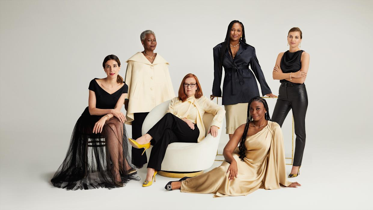 The nominees for Veuve Clicquot's Bold Woman and Bold Future Awards (Sam Copeland/PA)