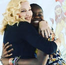 """<p>After opening a pediatric center in Malawi in honor of her daughter Mercy James, Madonna gave her daughter a shout-out on social media for """"beautiful speech!!"""" Madonna described herself as """"so proud."""" (Photo: <a rel=""""nofollow noopener"""" href=""""https://www.instagram.com/p/BWd0POCBX7W/?taken-by=madonna"""" target=""""_blank"""" data-ylk=""""slk:Madonna via Instagram"""" class=""""link rapid-noclick-resp"""">Madonna via Instagram</a>) </p>"""