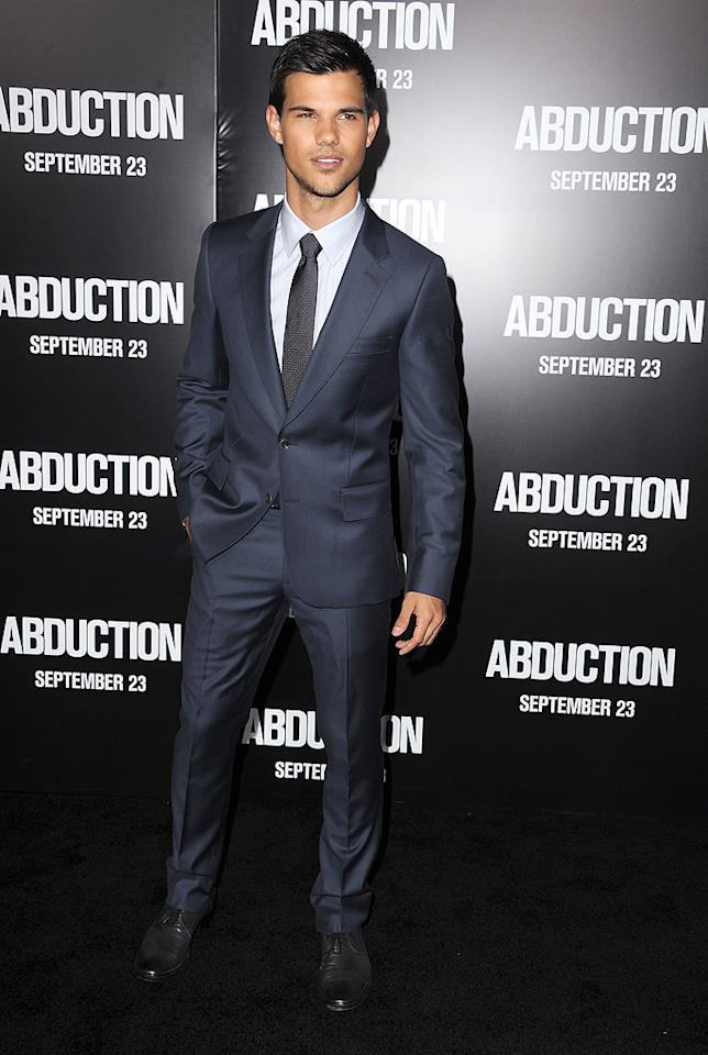 "<a href=""http://movies.yahoo.com/movie/contributor/1808598632"">Taylor Lautner</a> at the Los Angeles premiere of <a href=""http://movies.yahoo.com/movie/1810180299/info"">Abduction</a> on September 15, 2011."