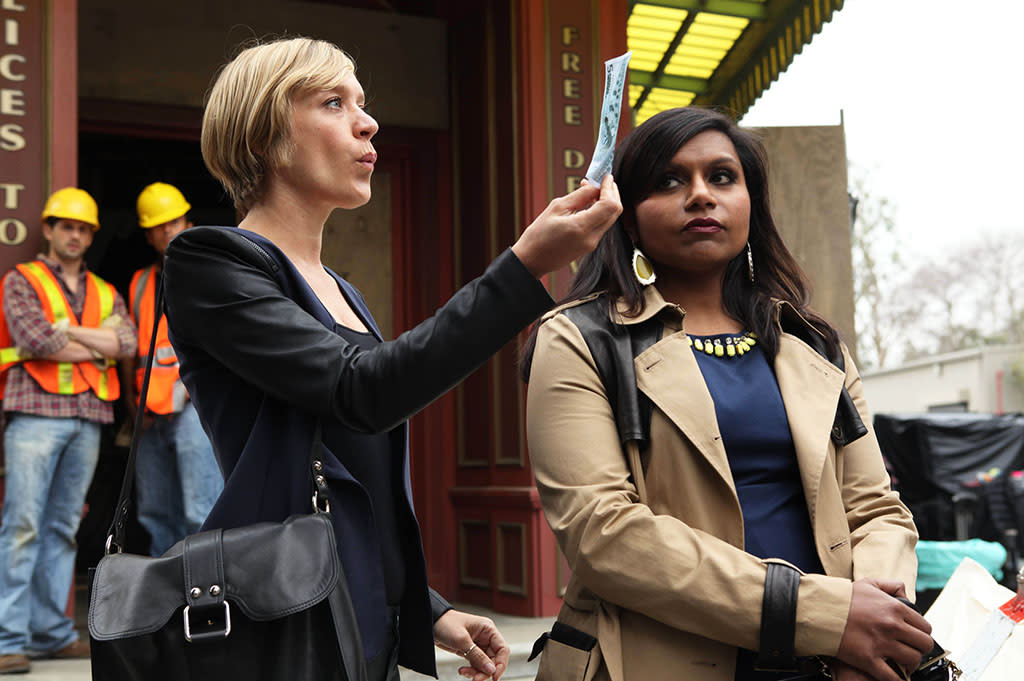 "THE MINDY PROJECT: Mindy (Mindy Kaling, R) meets Danny's ex-wife, Christina (guest star Chloe Sevigny, L), in the all-new ""Triathlon"" episode of THE MINDY PROJECT airing Tuesday, April 30 (9:30-10:00 PM ET/PT) on FOX."