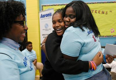 Aaron's, Inc., a leading omnichannel provider of lease-purchase solutions, and its divisions Aaron's and Progressive Leasing, surprised teens last week with a newly renovated Keystone Teen Center at the Asylum Hill Boys & Girls Club of Hartford. The event marked the 23rd refresh by Aaron's, Inc. and Progressive Leasing in communities across the U.S.
