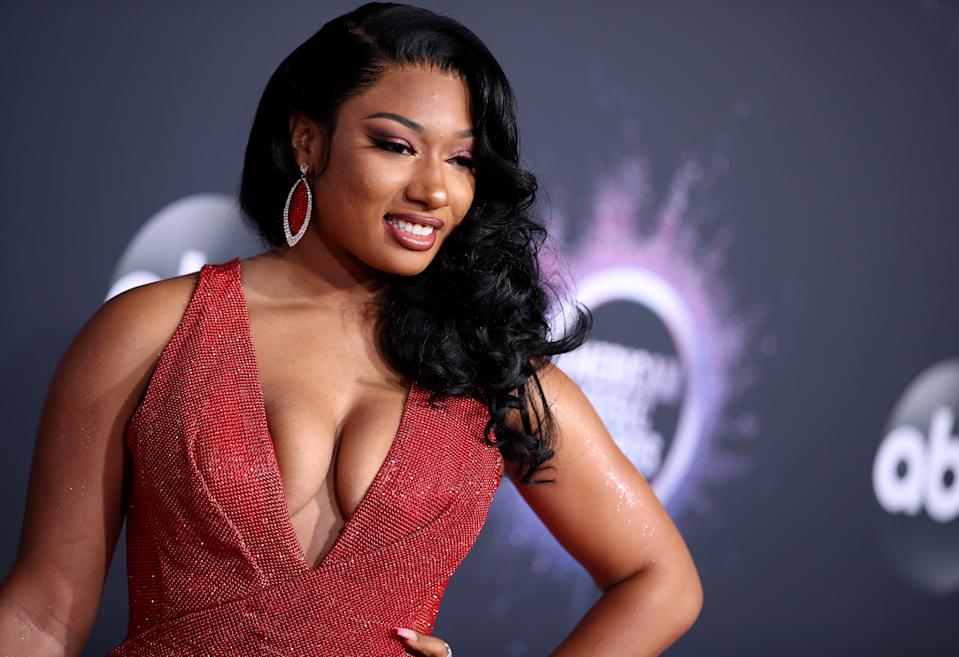 LOS ANGELES, CALIFORNIA - NOVEMBER 24: Megan Thee Stallion attends the 2019 American Music Awards at Microsoft Theater on November 24, 2019 in Los Angeles, California. (Photo by Rich Fury/Getty Images)